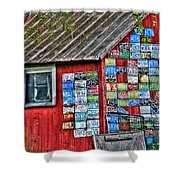 Country Graffiti Shower Curtain