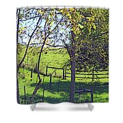 Country Green Shower Curtain