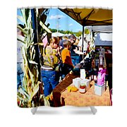Country Herbs 2 Shower Curtain