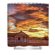 Country House Sunset Longmont Colorado Boulder County Shower Curtain