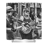 Country In The French Quarter 3 Bw Shower Curtain