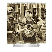Country In The French Quarter 3 Sepia Shower Curtain