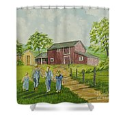Country Kids Shower Curtain