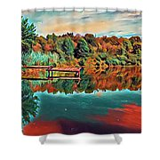 Country Lake Shower Curtain