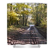 Country Lane In Autumn 2 Shower Curtain