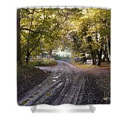 Country Lane In Autumn 4 Shower Curtain