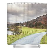 Country Lane In The Lakes Shower Curtain