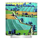 Country Lane Summer II Shower Curtain