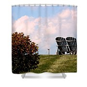 Country Life - Evening Relaxation Shower Curtain