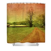 Country Living - Bayonet Farm Shower Curtain by Angie Tirado