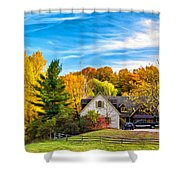 Country Living 2 - Paint Shower Curtain