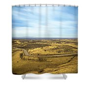 Country Mountain Roads Shower Curtain