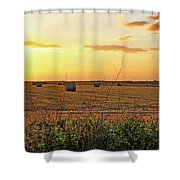 Country Pasture At Sunset Shower Curtain