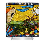 Country Peace Shower Curtain