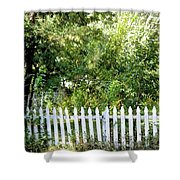 Country Picket Fence Shower Curtain