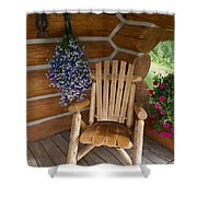 Country Porch Shower Curtain