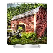 Country Reds Shower Curtain