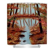 Country Reflections Shower Curtain