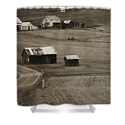 Country Road Holmes County Ohio Shower Curtain
