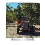 Country Road In California  Shower Curtain