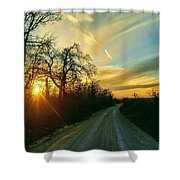 Country Road Please Take Me Home Shower Curtain
