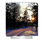 Country Road Sunset Shower Curtain
