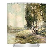 Country Road To Spuyten Shower Curtain