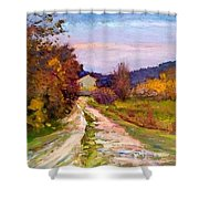 Country Road - Toscana Shower Curtain