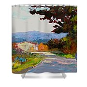 Country Road - Tuscany Shower Curtain