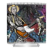Country Rock Guitar Shower Curtain