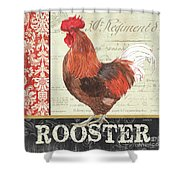 Country Rooster 2 Shower Curtain