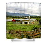 Country Scenic In West Virginia Shower Curtain