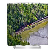 Country Train Shower Curtain