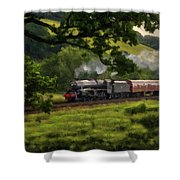 Country Train Ride Shower Curtain