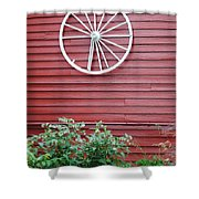 Country Wheel Shower Curtain