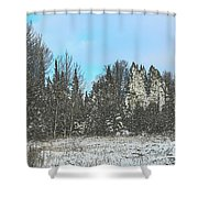 Country Winter 15 Shower Curtain