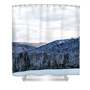 Country Winter Road Shower Curtain
