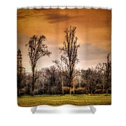 Countryscape With Bell Tower Shower Curtain