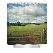 Countryside In Wales Shower Curtain