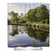 Countryside Park Pond Shower Curtain
