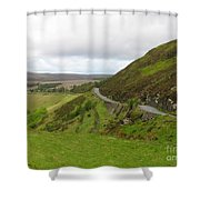 Countryside Road Bends Around Hill Shower Curtain