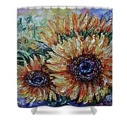 Countryside Sunflowers Shower Curtain