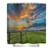Countryside Sunset Shower Curtain