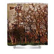 Countryside Windmill Shower Curtain
