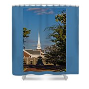 County Courthouse Bell And Church Spire Shower Curtain