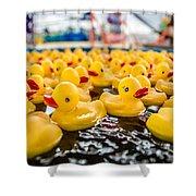 County Fair Rubber Duckies Shower Curtain