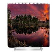 County Farm Sunset Shower Curtain