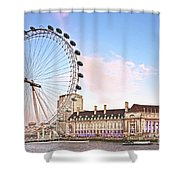 County Hall And London Eye Shower Curtain