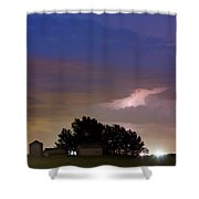 County Line 1 Northern Colorado Lightning Storm Shower Curtain by James BO  Insogna