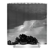 County Line Northern Colorado Lightning Storm Bw Shower Curtain
